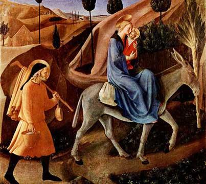 Jesus, Mary and Joseph flee to Egypt