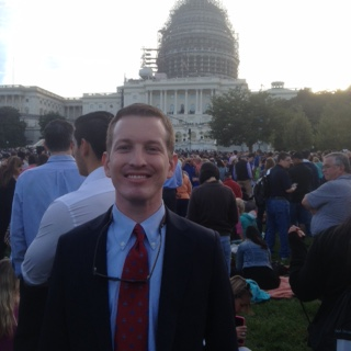 Associate Director Michael Lewis on the West Lawn of the Capitol