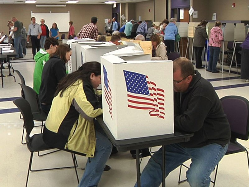Man in Voting Booth